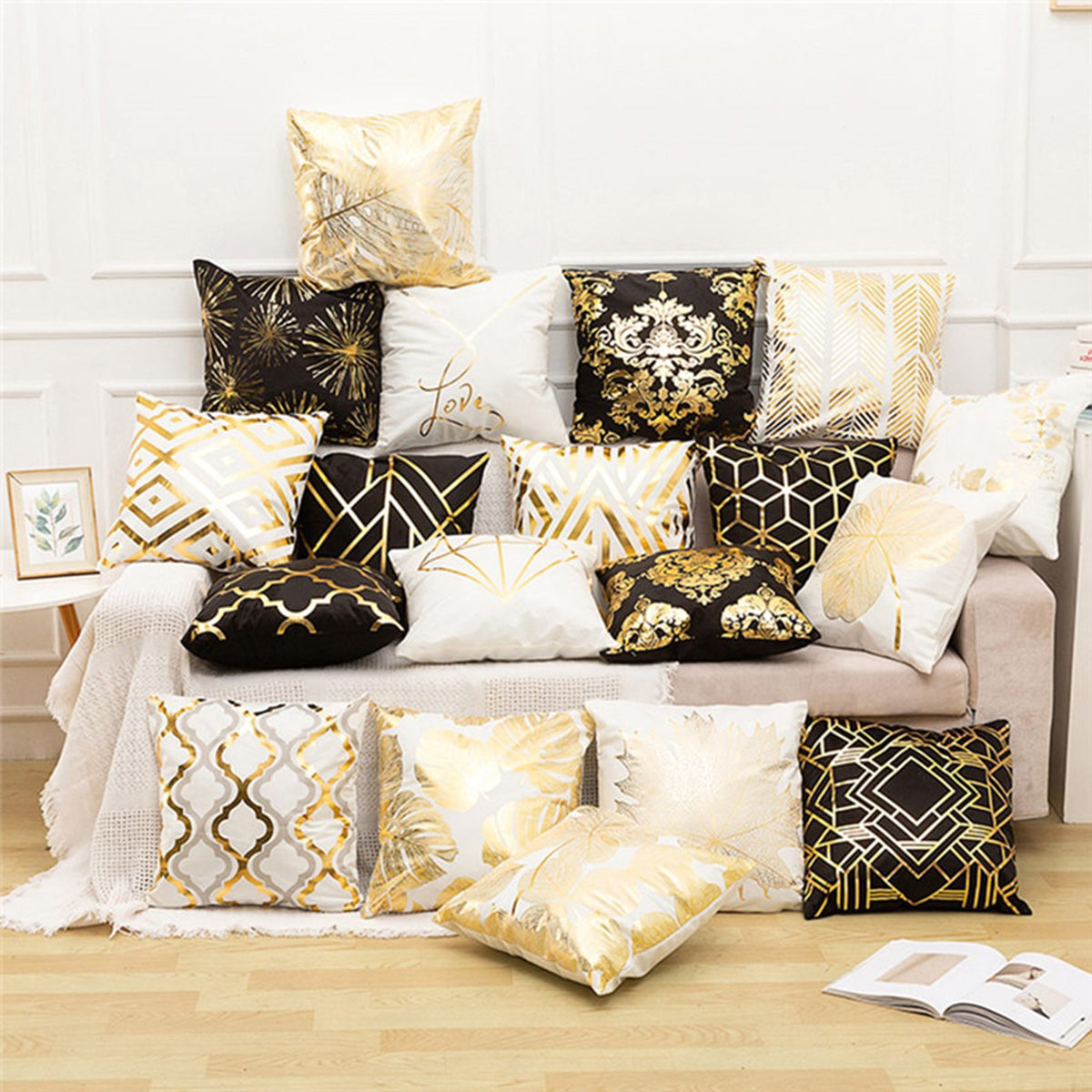 Leaf Flowers Designed Home Sofa Decoration Pillow