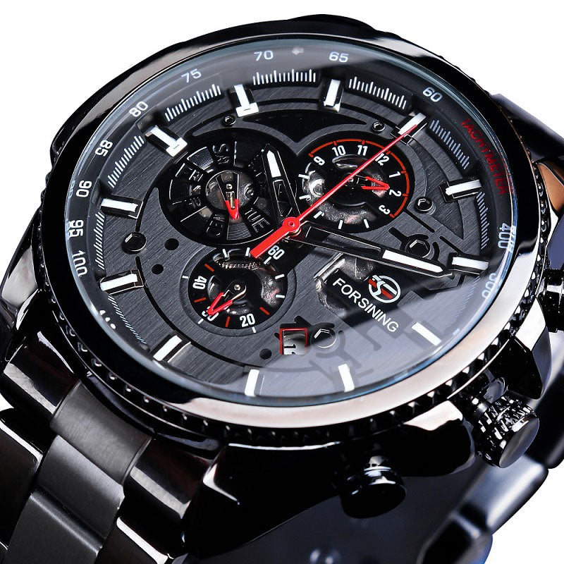Black Stainless Steel Automatic Wrist Watch