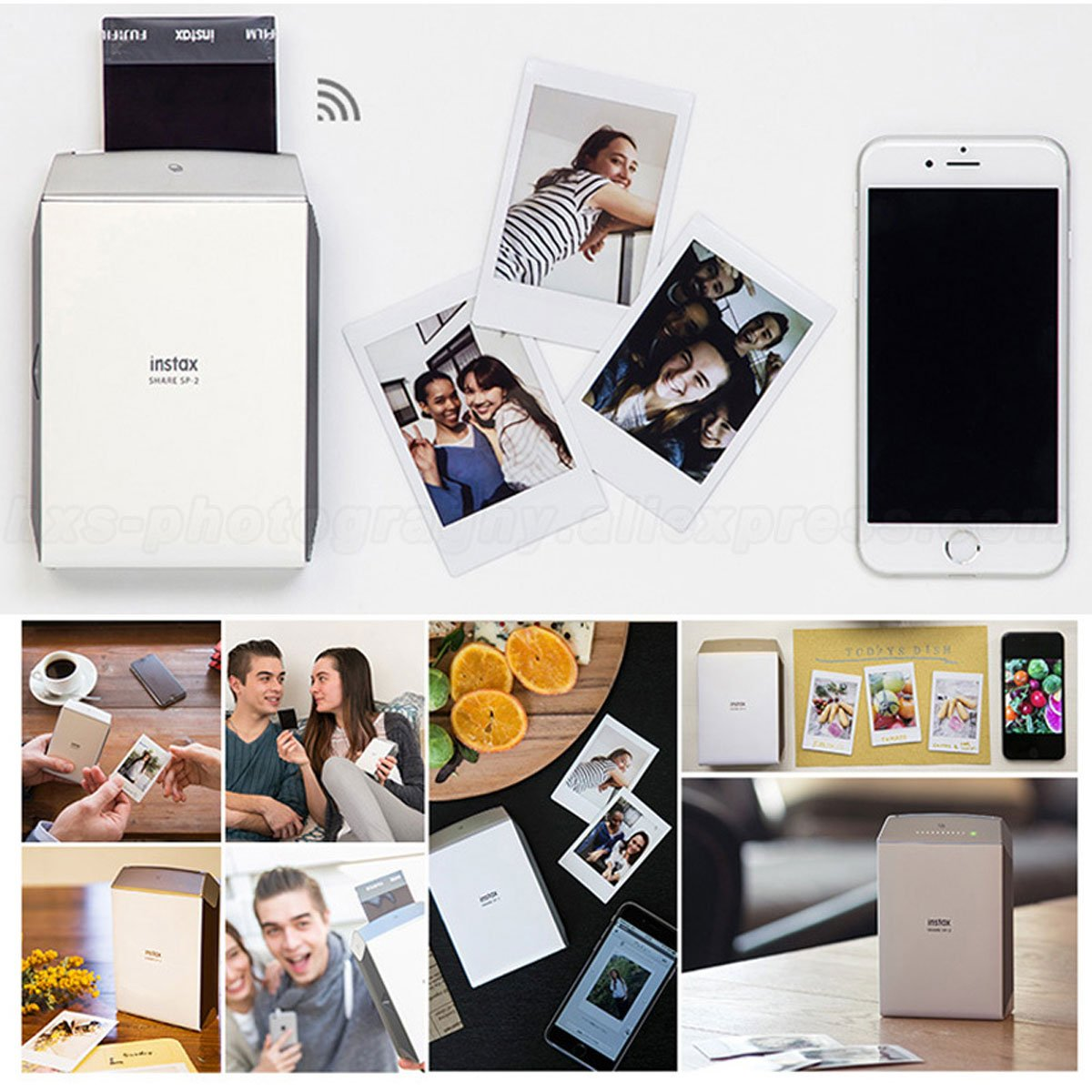 Low Power Consuming Portable Fujifilm INSTAX Smartphone Printer