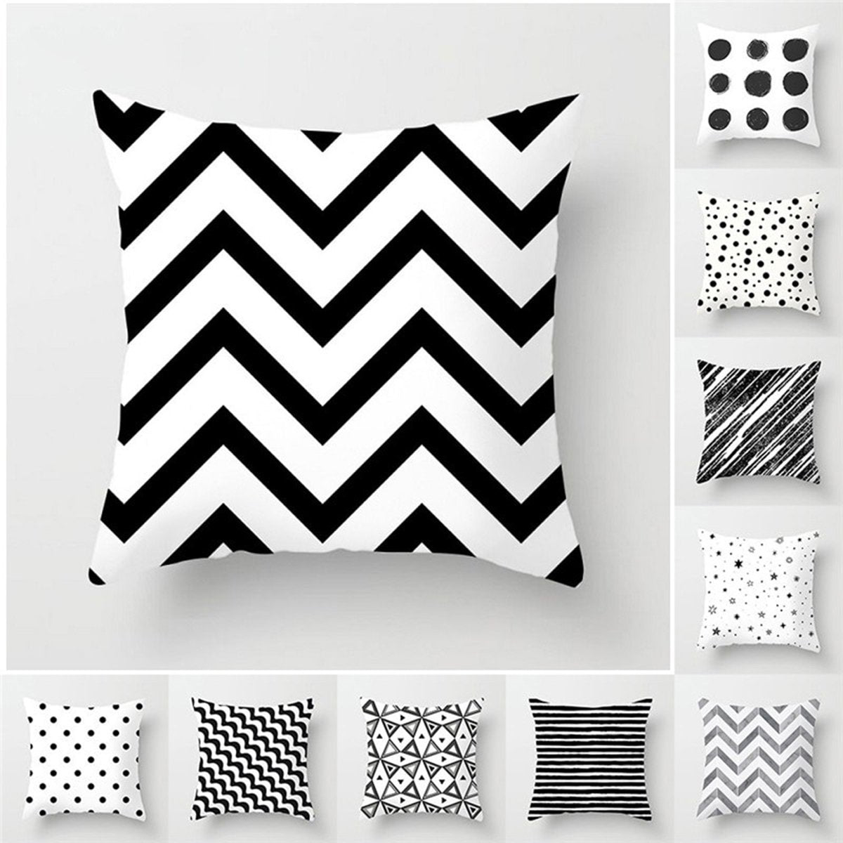 Black & White Stripe Pillow Cases