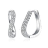 Classic Curved Style Silver Hoop Earrings