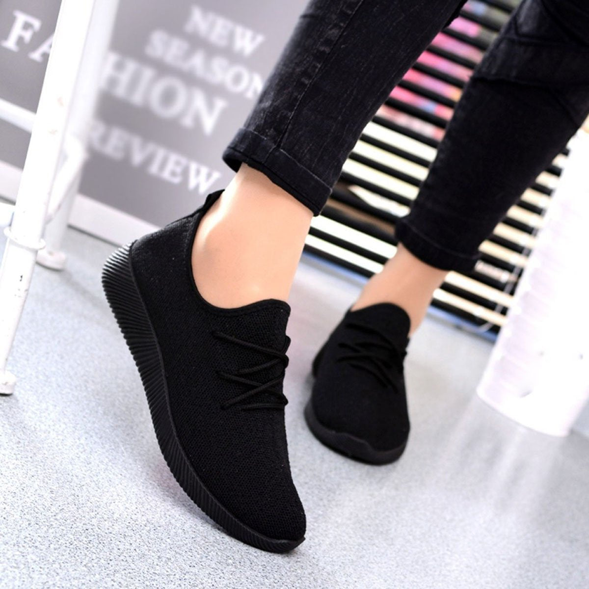 Sneakers Shoes for Women with Breathable Shallow