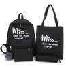 4Pcs/Set Women School Backpacks
