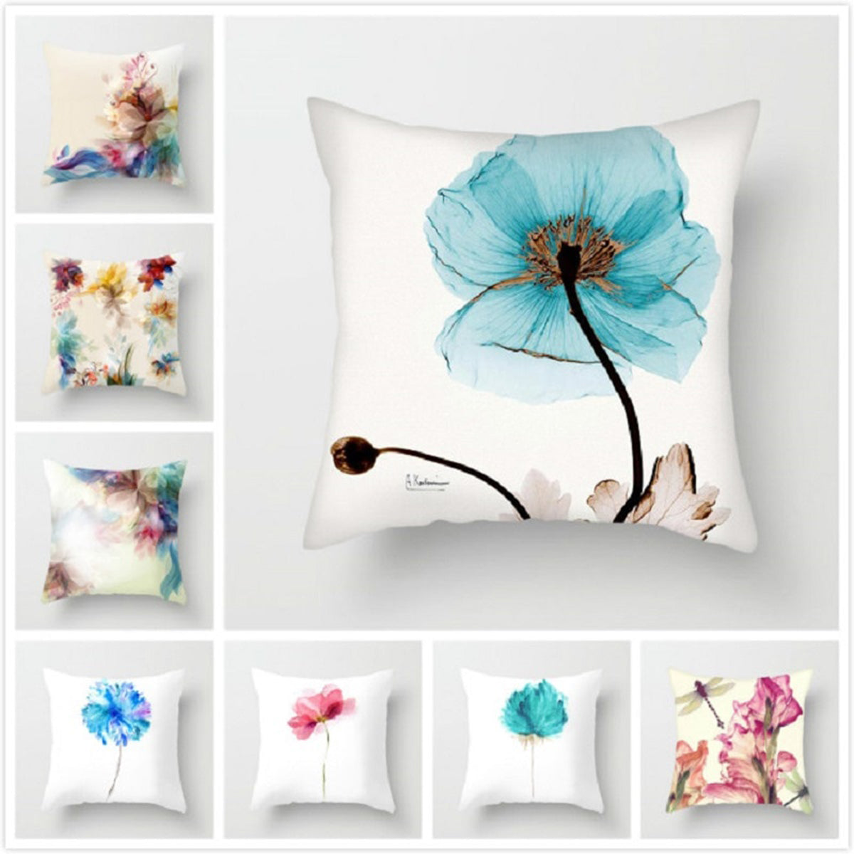 flower pillow cases