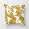 gold and white Pillow cases