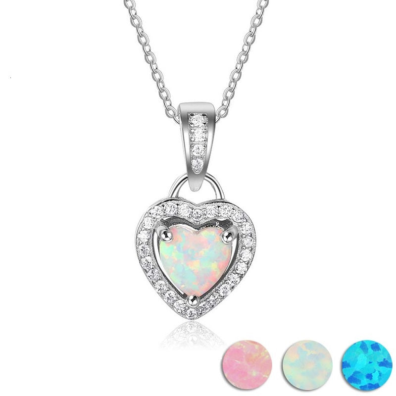 Cubic Zirconia Heart Shape Pendant Necklace