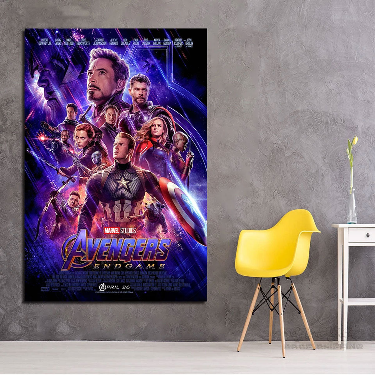 Modern UV-Resistant Moisture-proof Avengers End Game Poster for Marvel Fans