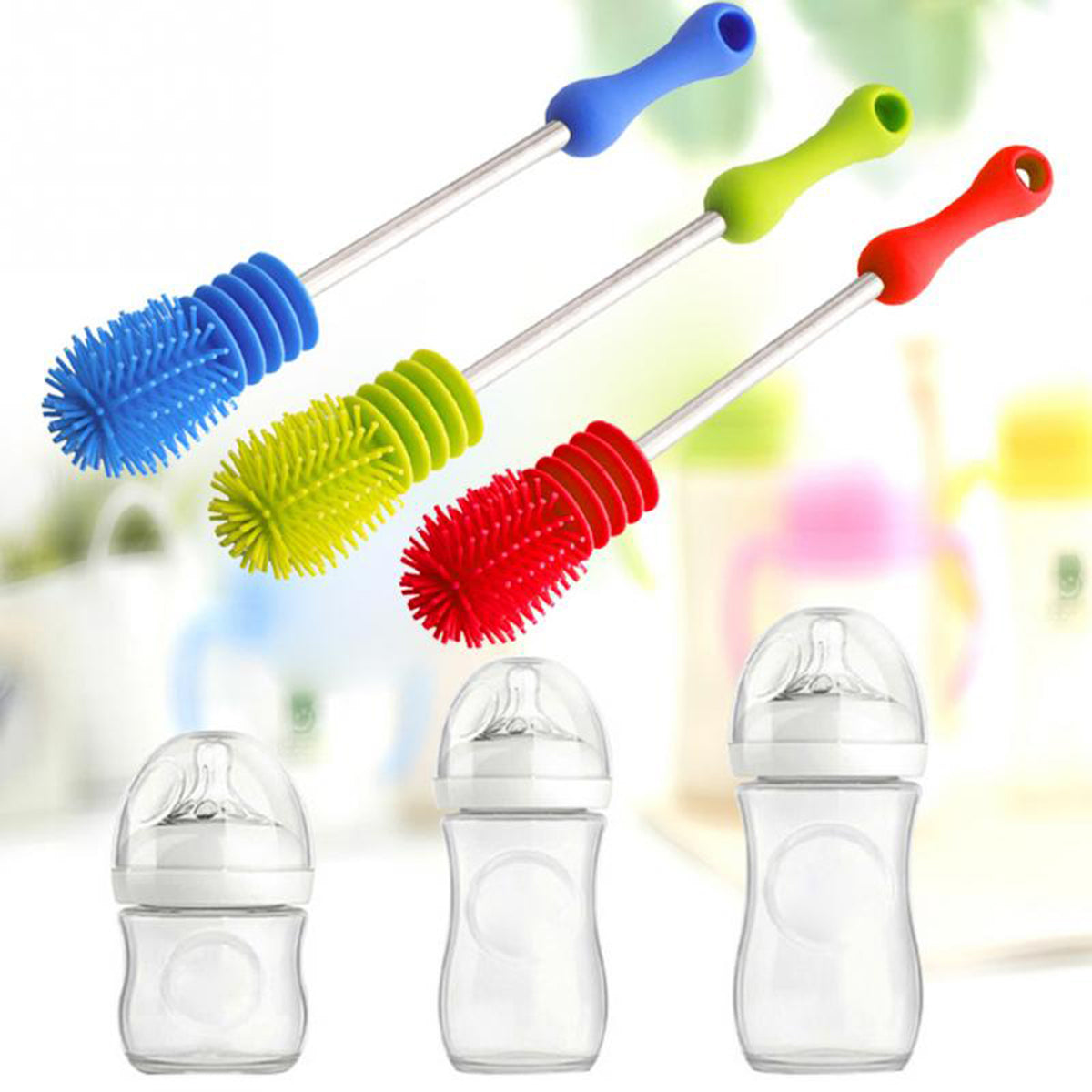 Silicone Baby Bottle Brush With Creative Design