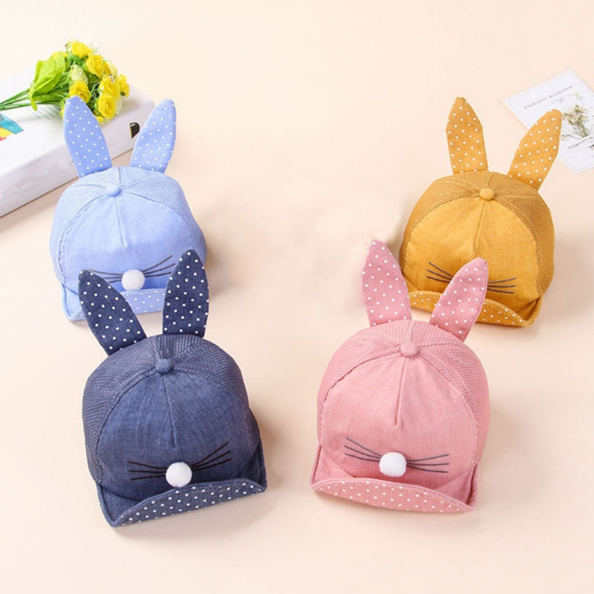 Casual Rabbit Design Baby Caps