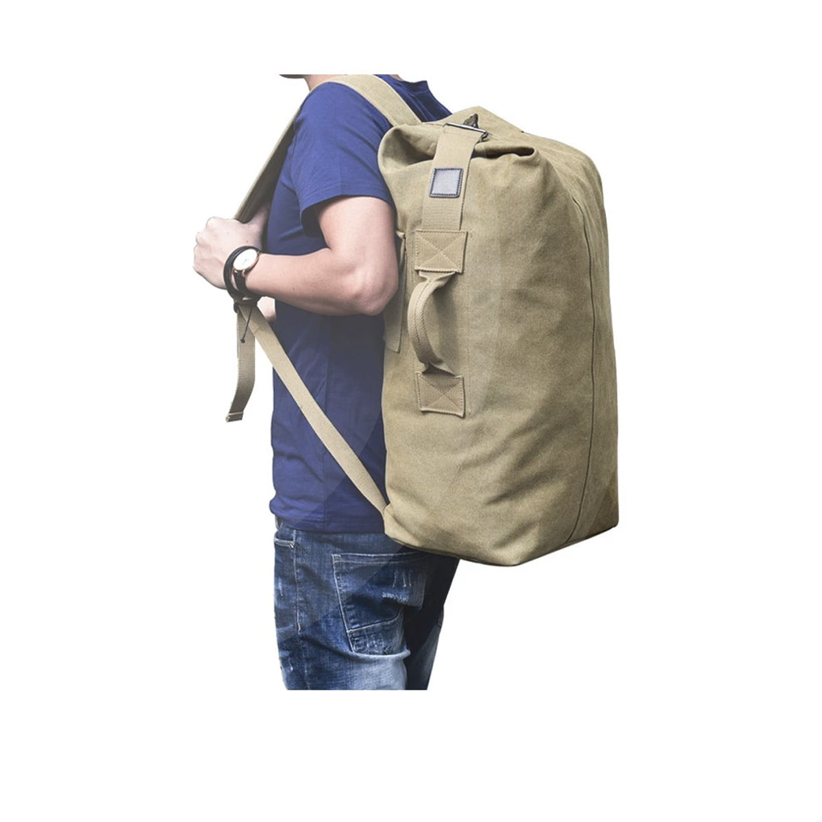 Large Capacity Unisex Multi-pocket Military Tactical Backpack Made of High-quality Canvas