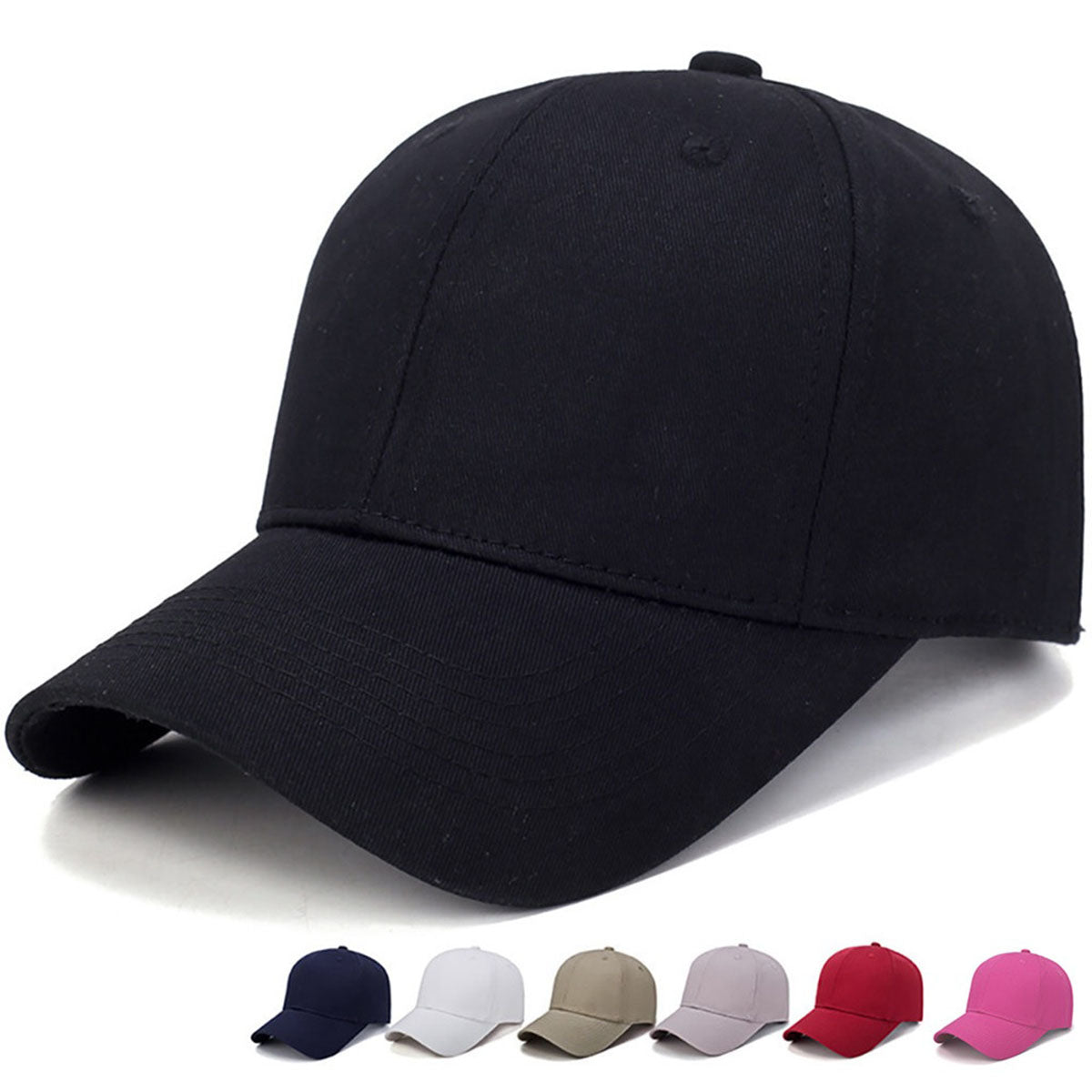 Curved Sun Visor Adjustable Men Hat