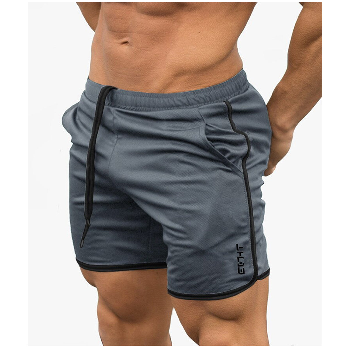 Cool Men's Sport Shorts with Elastic Waist & Drawstring