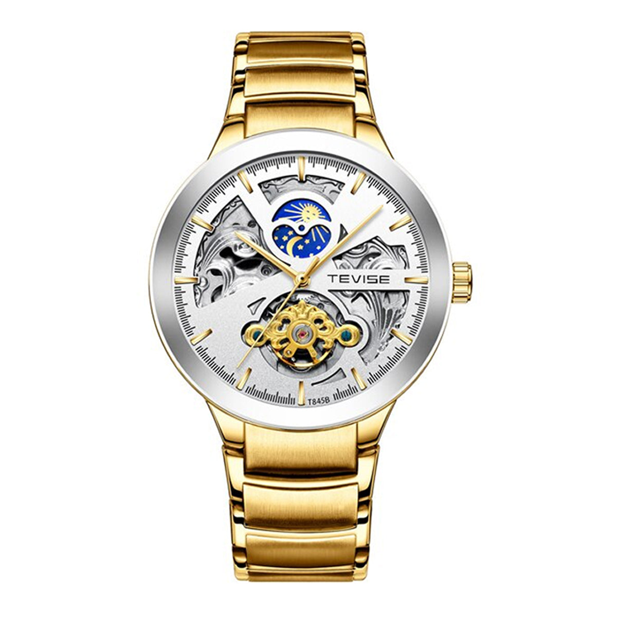Shock-and-water-resistant Automatic Self-winding Mechanical Watch for Men