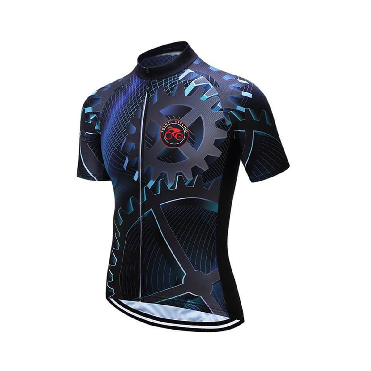 Full Zipper Closure Lightweight Short Sleeve Bike Jersey with Reflective Design