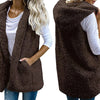 Women's Warm & Hooded Faux Fur Vest
