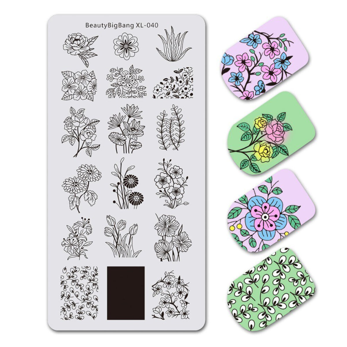 14 Different Pattern Nail Stamping Plates