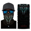 3D Skull Halloween Face Mask Scarf