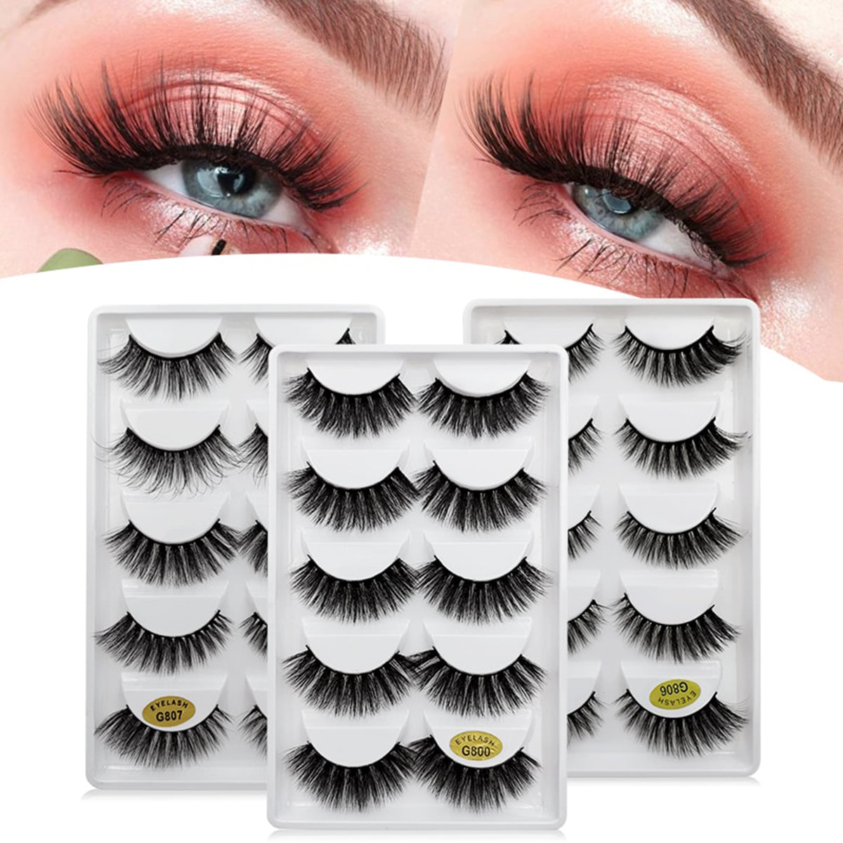 5 Pairs 3D Mink Lashes for Beauty Makeup