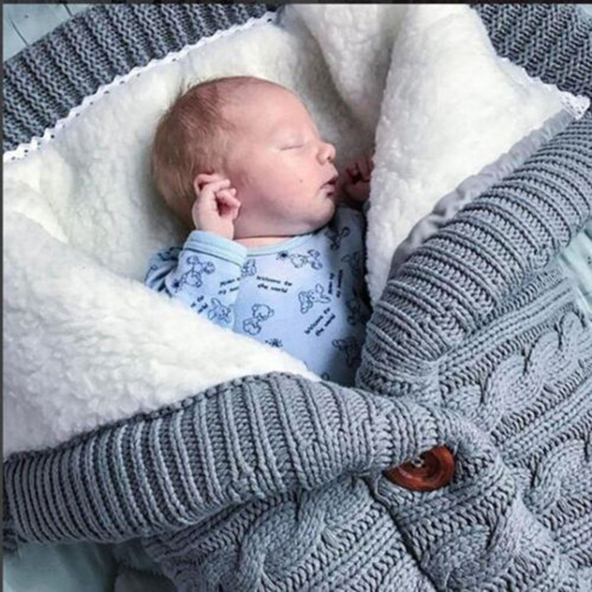 Knitted Baby Sleep Sack for Winter