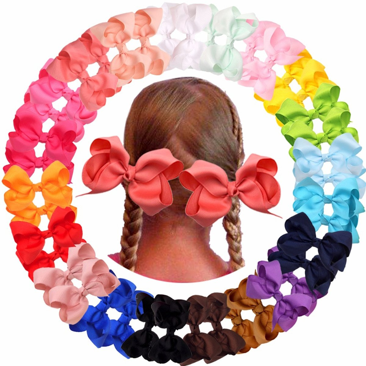 4.5 Inch Bow Hair Clip for Toddlers