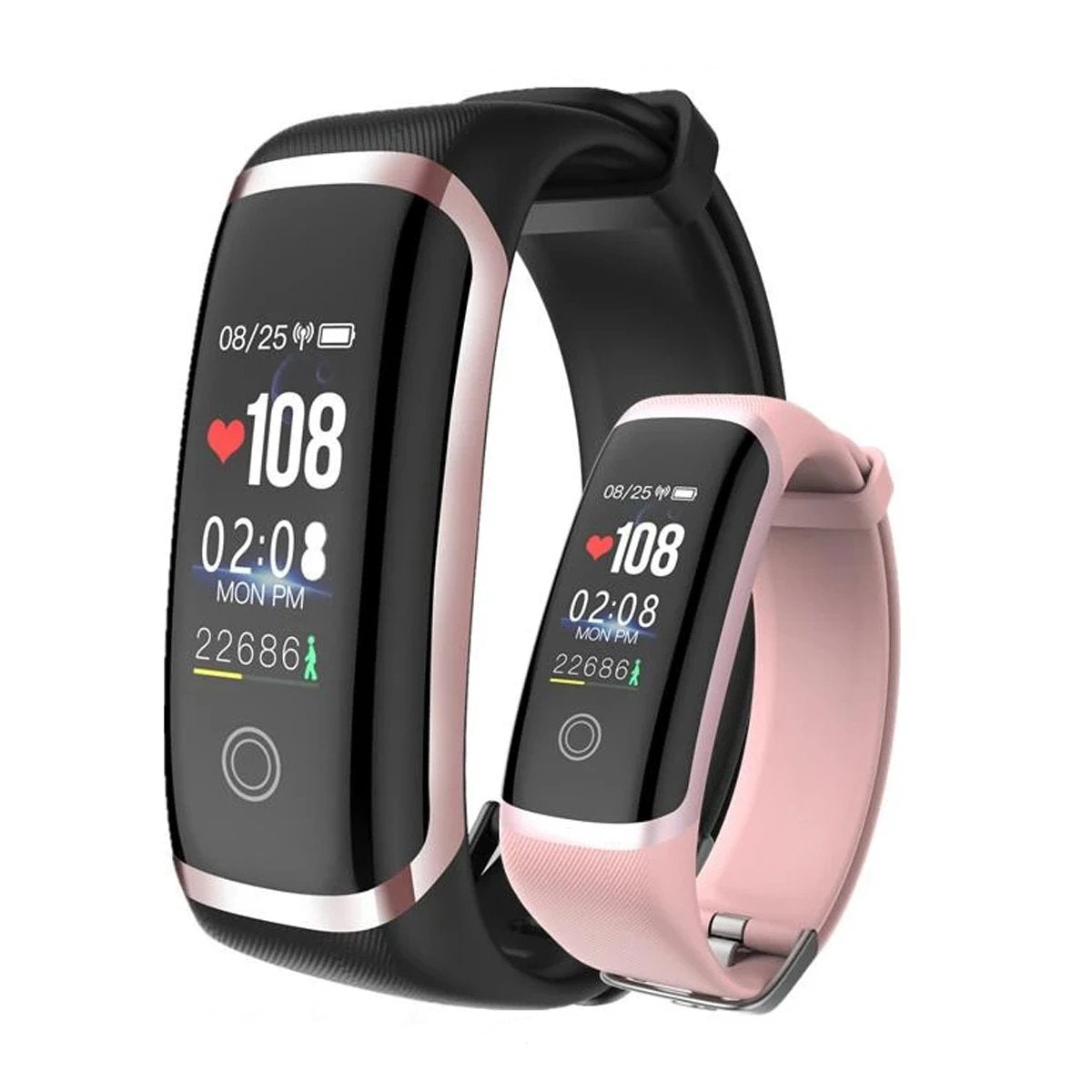 Smart Fitness Bracelet with Sleep & Heart Rate Monitor Compatible with Android, iOS