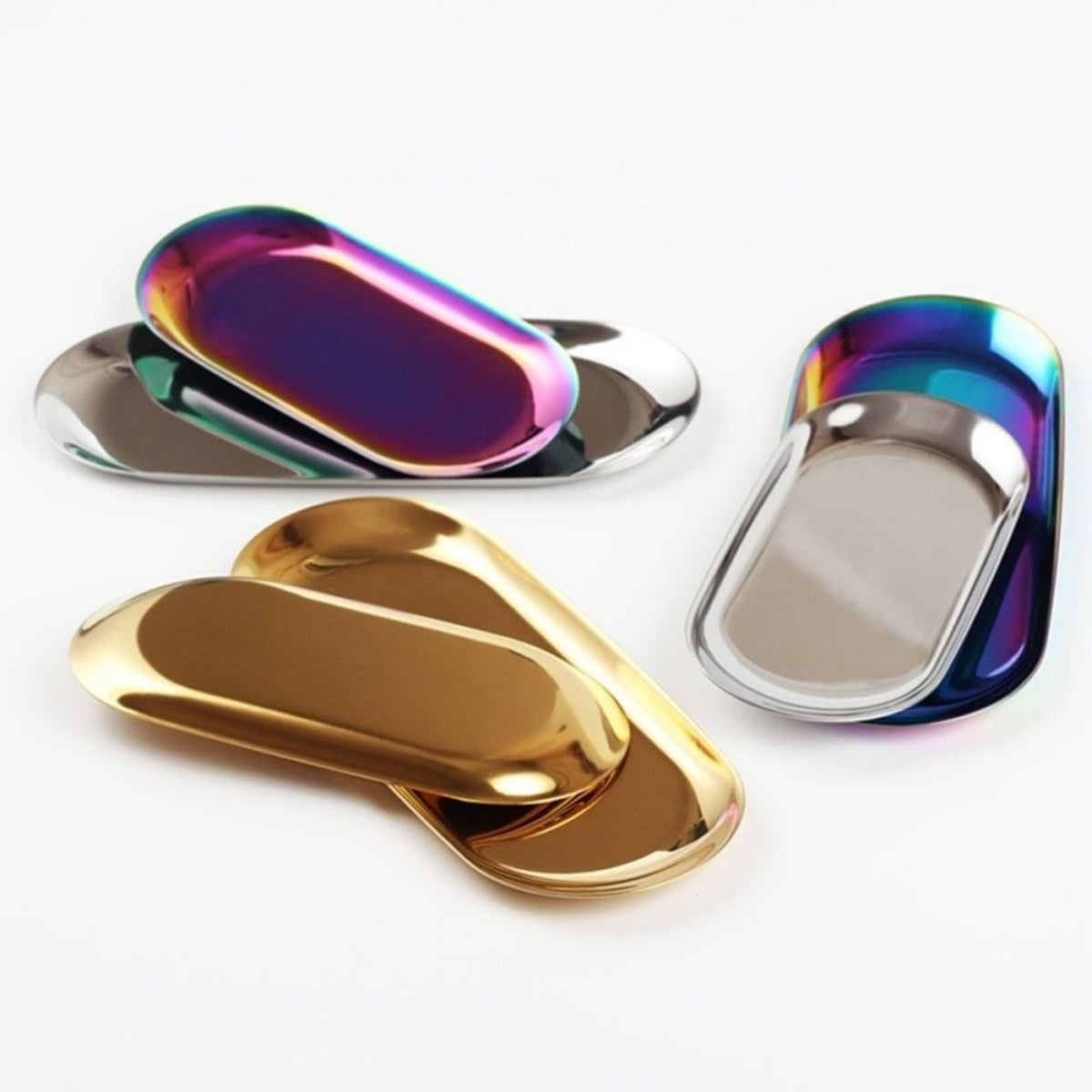 Colorful Metal Jewelry Display Trays