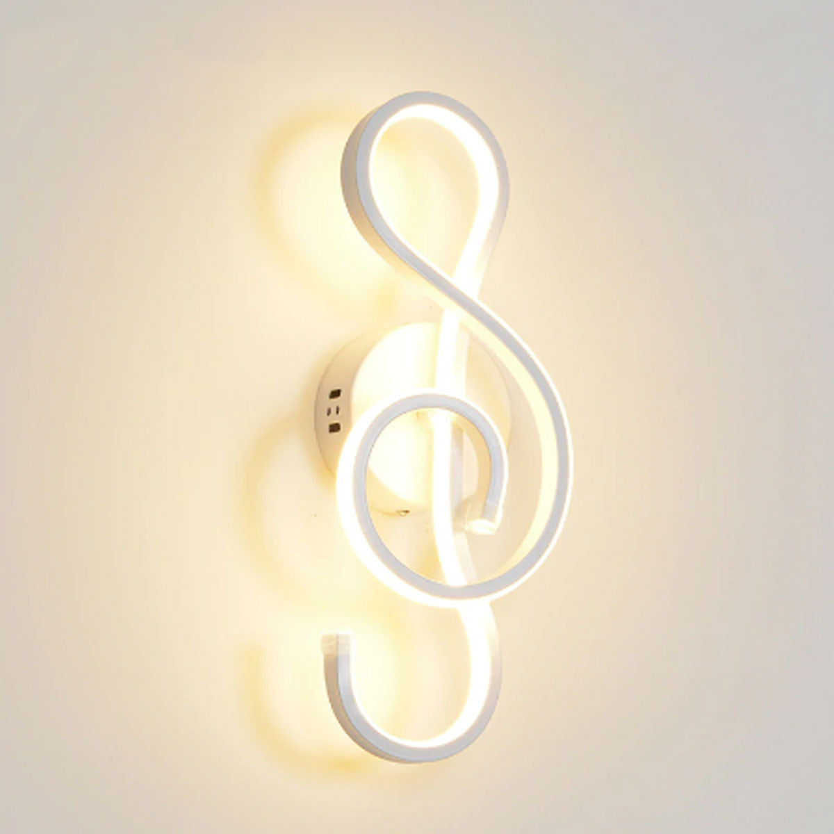 Gorgeous Black/White Treble Clef Wall Lamp with 1-3 m² Lighting Area