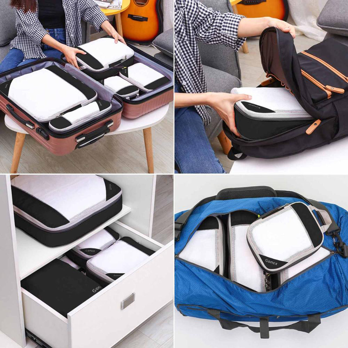 Hanging Compression Packing Travel Luggage Bags