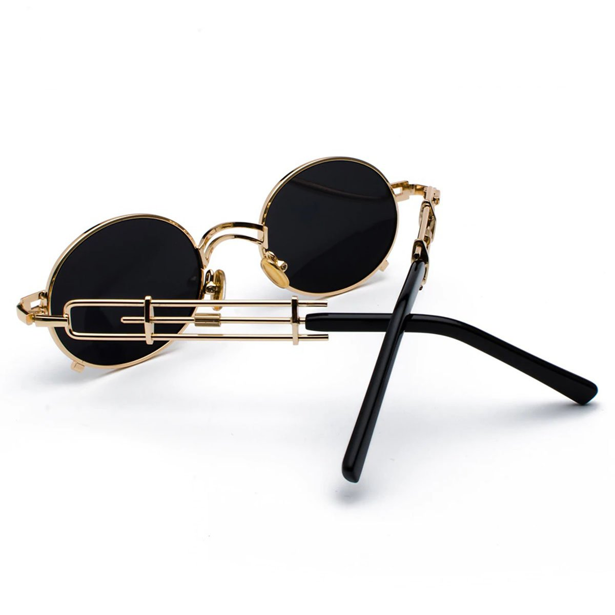 Peekaboo Retro Round Vintage Sunglasses for Women