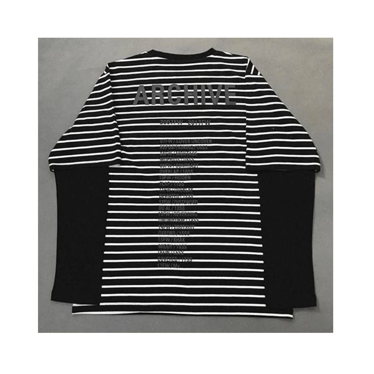 Pullover Striped O-Neck Collar Layered Long Sleeve Shirt