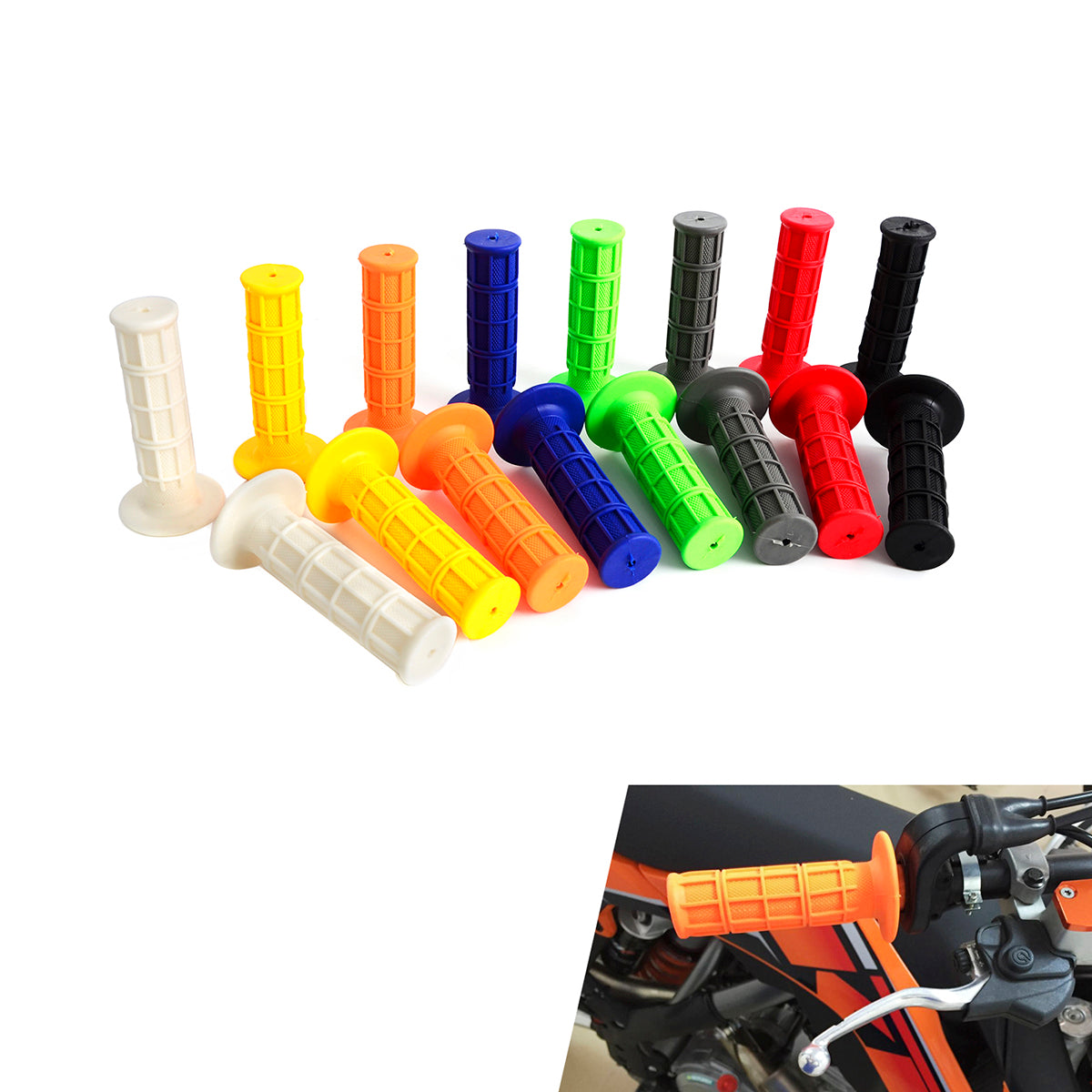 Universal Soft Rubber Hand Grips for Motorcycle