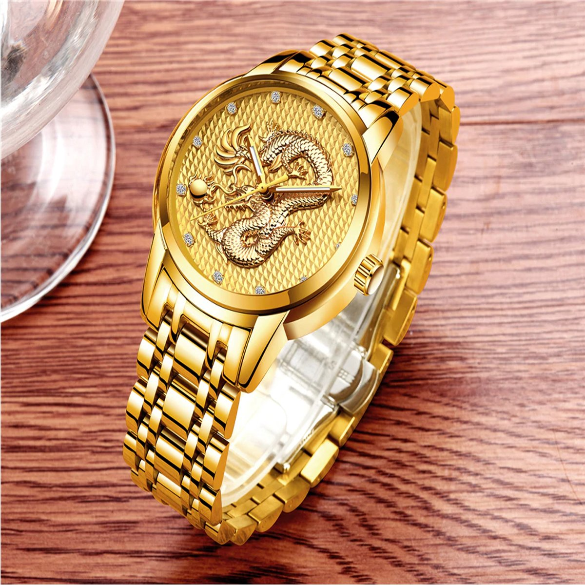 Hypoallergenic stainless steel Dragon Watches