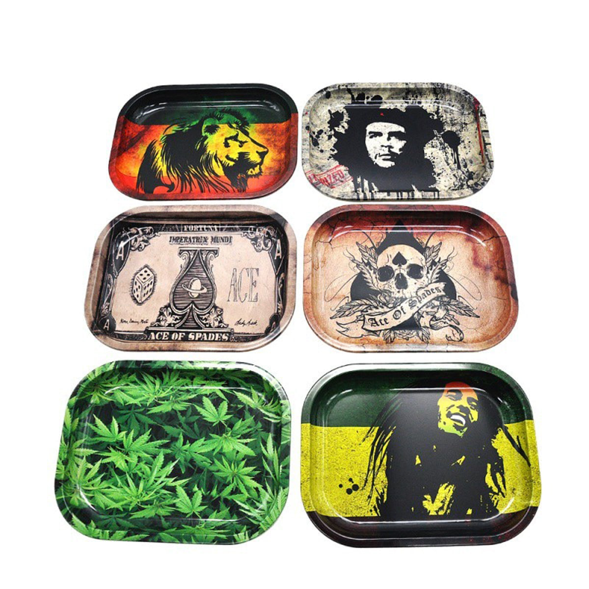 Tinplate Metal Tobacco Weed Rolling Tray