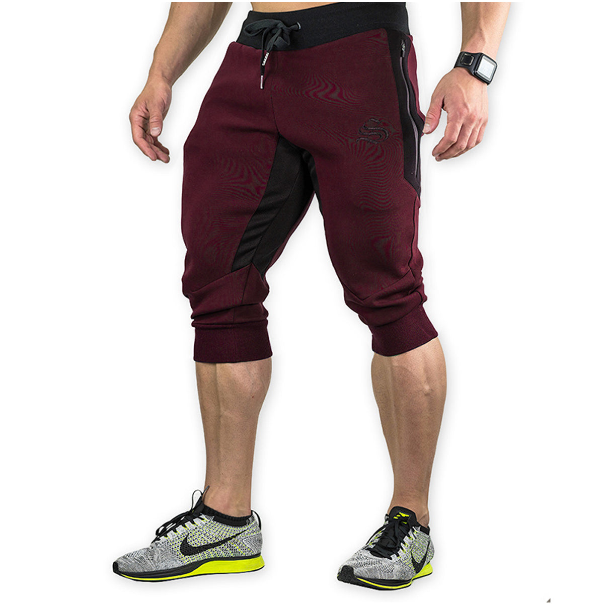 Men's Casual Knee Length Jogger Shorts with 2 Side Pockets
