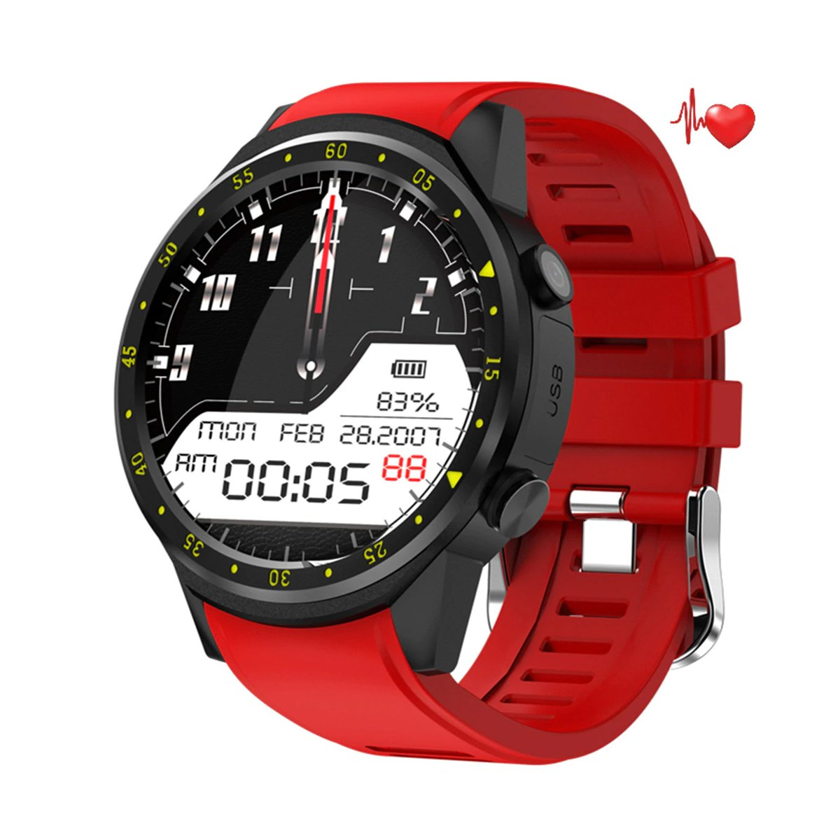 Multifunctional Smart Watch with HD Camera, Stopwatch, Pedometer & GPS