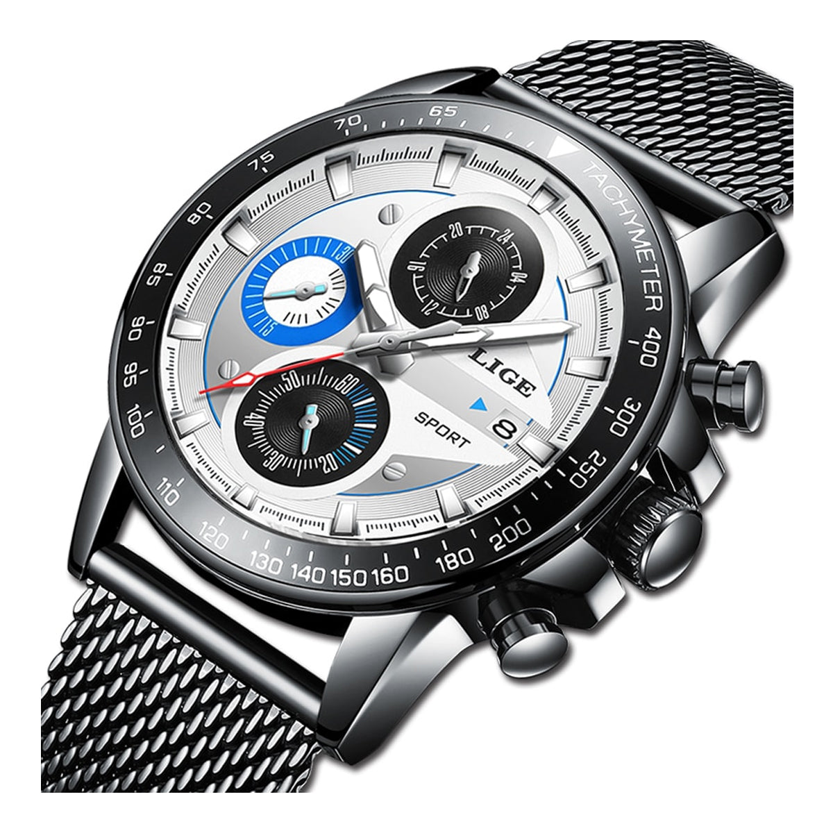 Elegant Waterproof Sports Watch for Men with Hardlex Dial Window