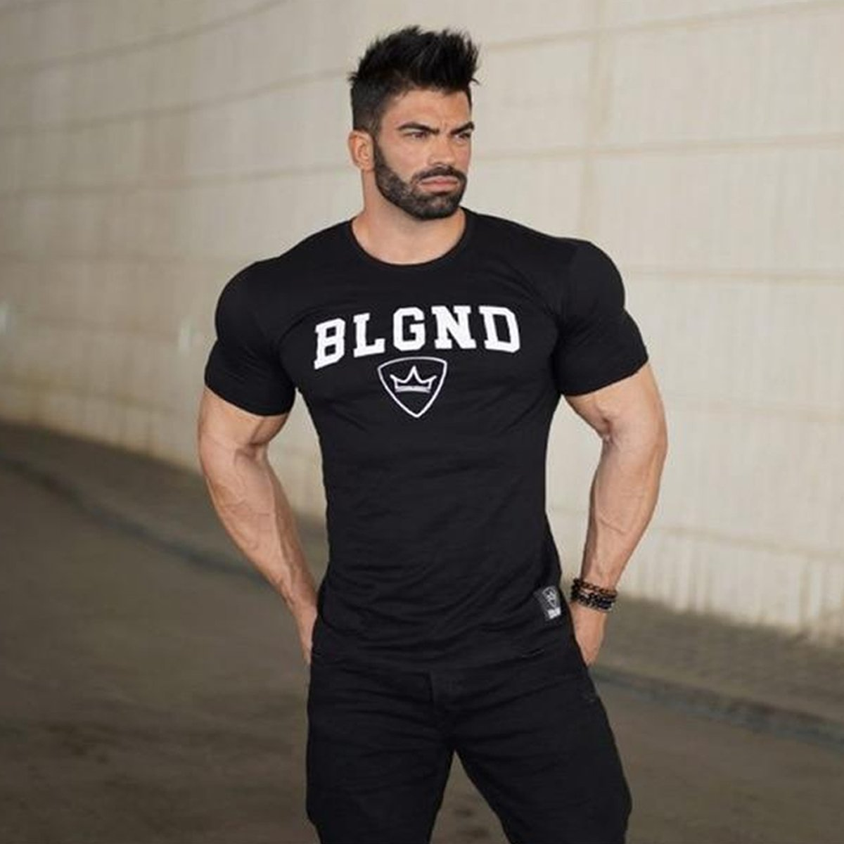 Comfortable to Wear Elastic Workout T-Shirt for Men