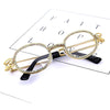 Vintage Small Round Diamond Sunglasses for Women