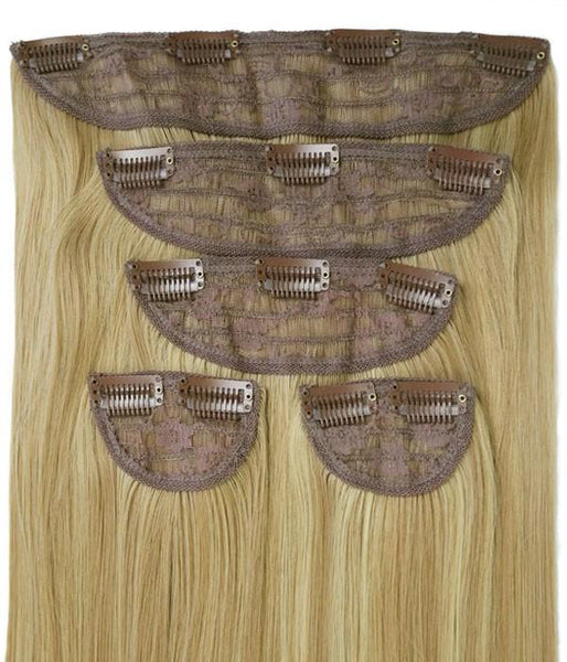 "Emma 22"" 5 Pieces Natural Straight Clip-In Synthetic Hair Extensions"
