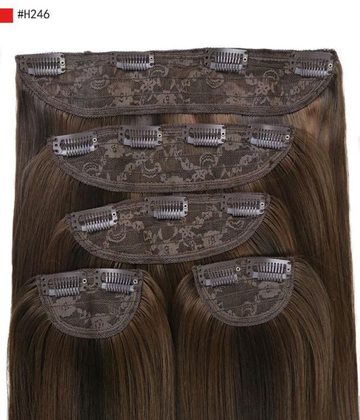 "Tania 22"" 5 Pieces Blow-Dry Wavy Clip-In Synthetic Hair Extensions"