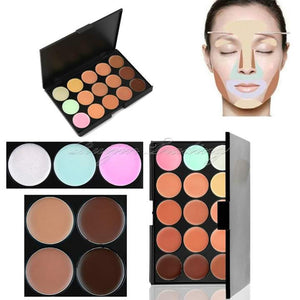15 Color Pallette with Beauty Blender and Brush - TraciKBeauty