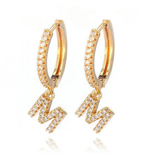 Load image into Gallery viewer, Fashion Charming Hoop Earrings Lady Super flash Single Row Rhinestones Earrings Ladies Accessories Jewelry 1 Pair