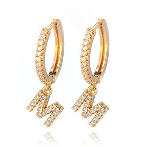 Fashion Charming Hoop Earrings Lady Super flash Single Row Rhinestones Earrings Ladies Accessories Jewelry 1 Pair