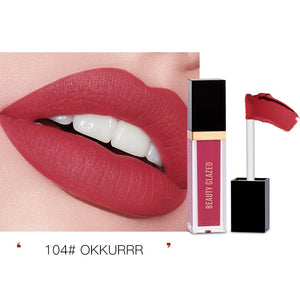 Traci K Beauty Glazed 24 Colors Matte Lip Gloss Natural Long-lasting Waterproof No Fading Non-stick Cup Lip Glaze Sexy Lip Makeup TSLM1