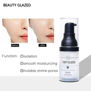Traci K Beauty Glazed Invisible Pore Makeup Primer Pores Disappear Face Oil-control Makeup Base Contains Vitamin A,C,E for Optimum Skin