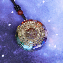Load image into Gallery viewer, Orgonite Pendant Om Symbol Necklace Chakra Healing Energy Necklace Meditation Jewelry Handmade Professional Dropshipping
