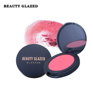 Traci K Beauty Glazed Makeup Natural Blush Baked Cheek Face Blusher Texture Baked Blush Face Base 10 Colors Mineral Blusher Palette