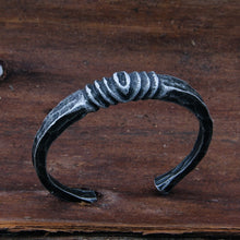 Load image into Gallery viewer, Yage new arrival Iron Color Deep Gray Viking Bangle