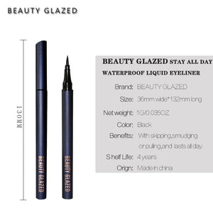 Traci K BEAUTY GLAZED waterproof liquid Eyeliner Pen Black Eye pencil keep 24H makeup beauty and top quality eyeliner cosmetic makeup