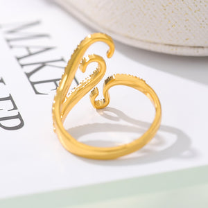 Adjustable Gothic Rings For Women Men Gold Silver Color Sea Squid Octopus Ring Fashion Jewelry Vintage Rock Opened Size Anillos